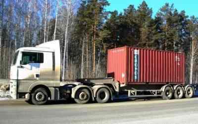 Контейнеровоз Полуприцеп, тягач MAN, Volvo заказать или взять в аренду, цены, предложения компаний